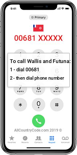 Wallis and Futuna 681 Country Code WF WLF